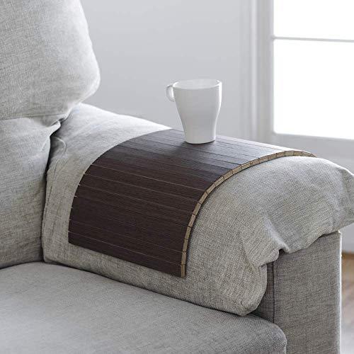 vassoio in legno flessibile che si adatta al braccio del tuo divano o alle superfici più instabili, finitura in wenge, ideale per un regalo