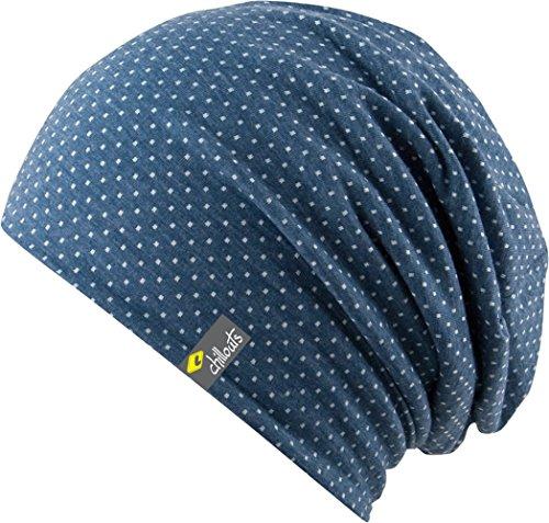 Feinzwirn Florence Hat - Trendige leichte Mütze für Damen und Herren - Unisex (Blue/White)