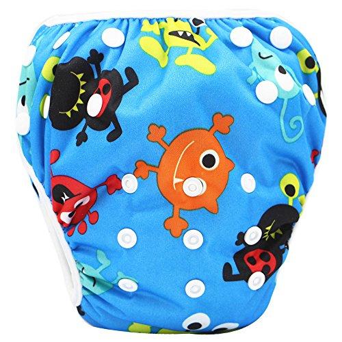 Topgrowth Cover Pannolini Lavabili Neonato Bambini Riutilizzabili Costumi da Bagno Carino Stampato Pantaloni da Nuoto per 0-3 Anni (30)