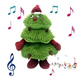HSKB - Árbol de Navidad, Electric Singing and Dancing Christmas Tree Peluches para Decoraciones de árboles de Navidad,Juguete de Felpa eléctrico navideño (40 x 23 cm)