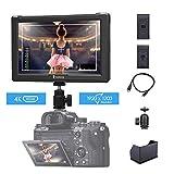 Eyoyo E7S Moniteur Écran de Visée 7 Pouces HDMI IPS LCD FHD Support Entrée et Sortie 4K au Format 16:10 Résolution à 1920x1200 pour DSLR Reflex Caméra et Caméscope (Batterie Non Incluse)