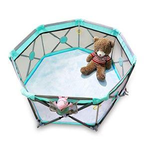 LHR888 Valla Infantil Valla Interior Valla de Seguridad para niños Patio de Juegos Familiar Valla para niños pequeños, Regalo 100 Ocean Ball + Cotton Pad ( Color : Green , Size : 140*140*70CM )