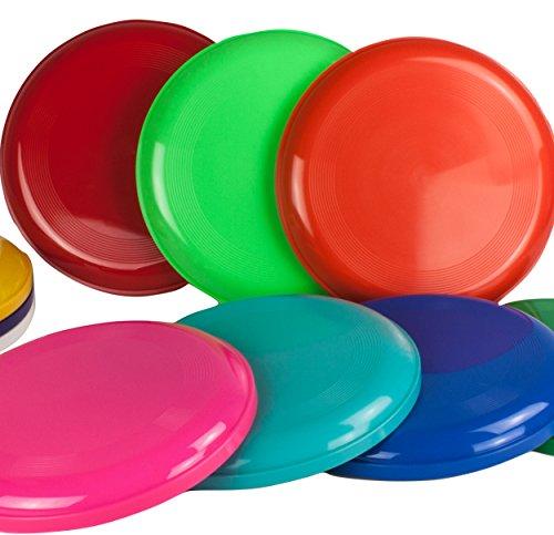 SchwabMarken 10 Frisbee Disc/Frisbees/Discos para lanzar en colores mezclados; Â¡No son aptos como frisbees para perros!