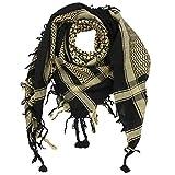Superfreak Palituch - schwarz - beige - 100x100 cm - Pali Palästinenser Arafat Tuch - 100% Baumwolle