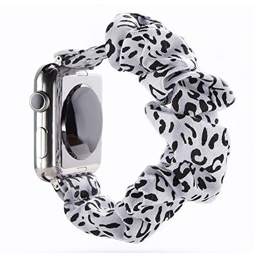 juanxian - Cinturino Elastico di Ricambio per Apple Watch, Morbido ed Elastico, Compatibile con iWatch Serie 1-5 (38 mm/40 mm/42 mm/44 mm), Mucca, 38mm/40mm