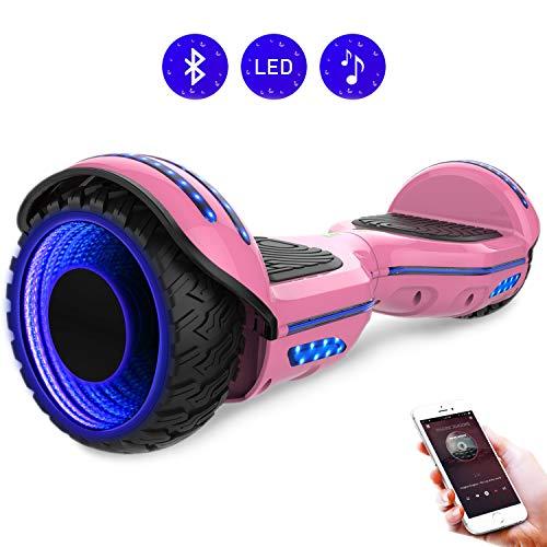 RCB Hoverboard elettrico scooter auto bilanciato ruote 6.5 inch con LED luce sulle ruote, hoverkart...