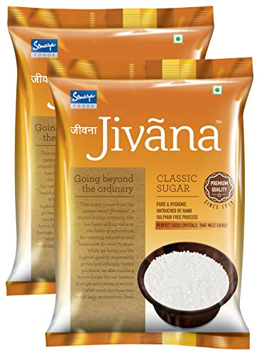 Jivana Classic Sugar, 5 kg (Pack of 2)