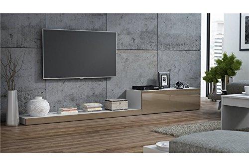 Chloédesign Lime II Mobile per TV, Bianco e Tortora, unica