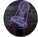 Leisu 3D Lampada da Tavolo Luce Notturna 7 Colori Cambiamento Pulsante Touch LED Illuminazione Decorativa lampada da tavolo per Compleanno e San Valentino (A6)