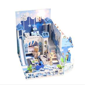 Casa De Muñecas De Dibujos Animados Para Niños, Casa De Muñecas En Miniatura De Toy Dream Childhood, Accesorios De Kit…