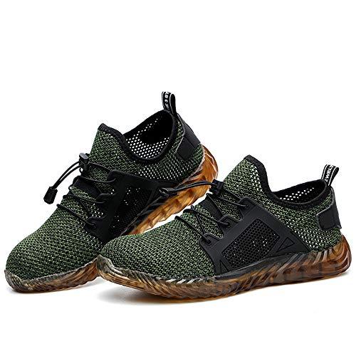 Calzado de Seguridad Ligero Antideslizante, en Sitio Montaña Asfalto, Zapatos de Trabajo Industrial Deportivo para Hombre Mujer Unisex