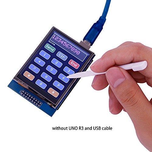 51ny59nHZFL - ELEGOO Pantalla Táctil TFT de 2,8 Pulgadas con Tarjeta SD con Todos Los Datos Técnicos en CD Compatible con Arduino UNO R3 Placa