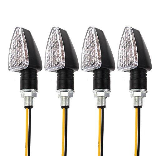Proster 4pz Indicatori di Direzione per Moto / 4 Luci Minifrecce Anteriori Posteriori / 4 Luce Mini...