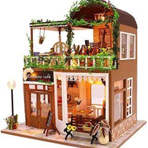 Skwenp DIY casa de la cabaña innovadora hecha a mano de la casa de muñeca de juguete rompecabezas for personas mayores de 8 años de edad, for niños y adultos en el favorito de los amantes hechos a man