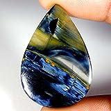 14.45CTS 100% Chatoyant naturale Golden Pietersite pera cabochon gemma sciolto