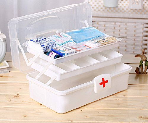 Getko 3 Layer Medical Kit Portable Medicine Box Family First Aid Kit Medicine Box(Multi Color)