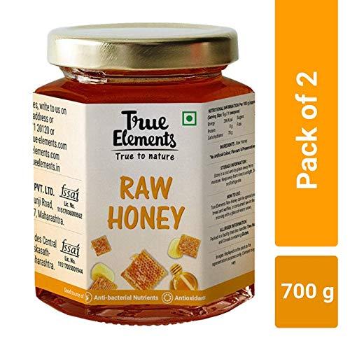 True Elements Raw Honey, 350g, (Pack of 2)