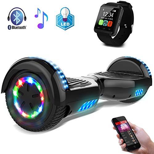 Hoverboard Scooter elettrico 6.5 INCH auto-bilanciato con luci sulle ruote Bluetooth per adulti e...