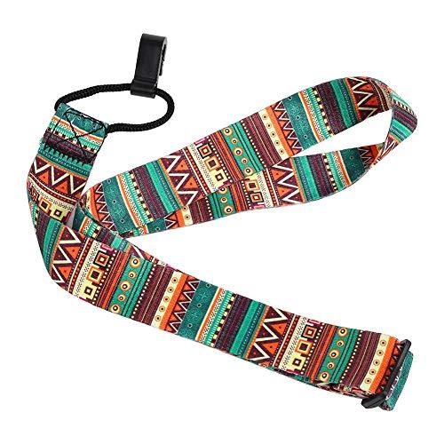 Dilwe Ukulele Strap, Cinturino Regolabile in Nylon Bohemian Elegante Universale Cinghia con Gancio per Ukulele Mini Accessori per Chitarra