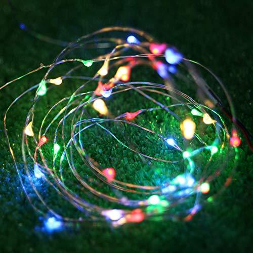 BOGEZ Stringa Luci LED Batteria Catena Luminosa 4m 40 LED con Filo Rame Ghirlanda Luminosa Lucine...