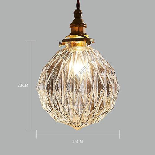 Lampadario in vetro bar balcone portico comodino illuminazione lampadario in ottone-Cappa aspirante...