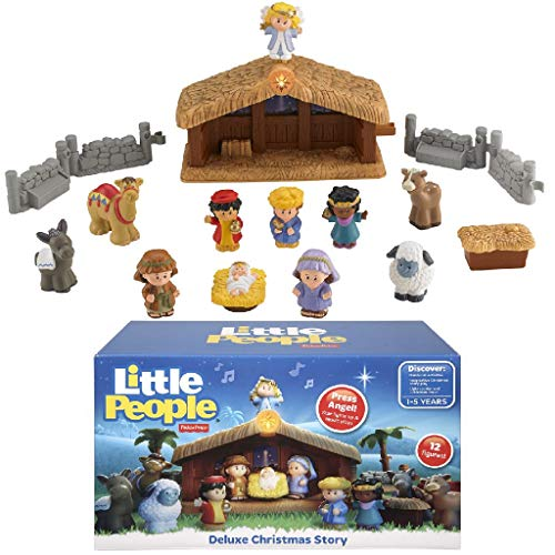 Fisher-Price- Little People a Christmas Story, Multicolore, J2404
