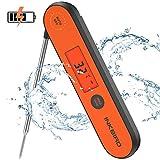 Inkbird USB Wiederaufladbar Digital Einstechthermometer IHT-1P, IPX5 Wasserfest Kochthermometer Küchenthermometer, Digital Fleischthermometer Grillthermometer für Braten, BBQ, Baby-Ernährung