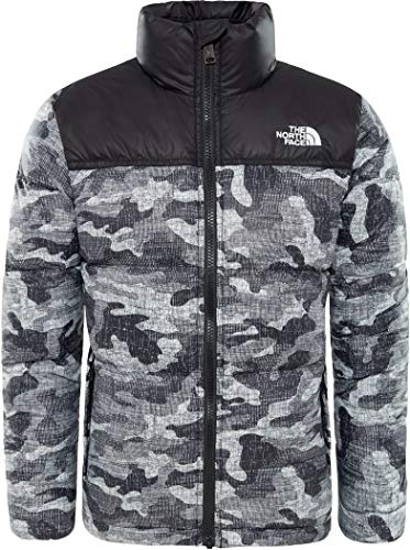 The North Face B Nuptse Down Jkt TNF Blk Textured Camo PRT S (Kids)