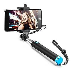Kaufen Anker Selfie Stick, Verstellbare Selfie-Stange, ohne Akku, mit Kabel, für iPhone 6s / 6 / 5, Galaxy, Nexus und viele mehr, in Schwarz