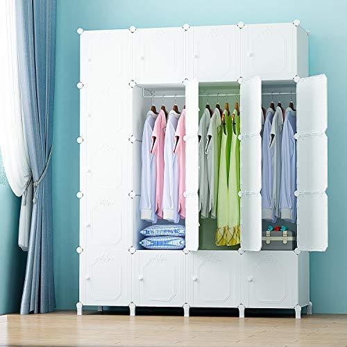PREMAG Armadio in Moduli Plastici per Stoccaggio di Abbigliamento, Accessori, Giocattoli,...