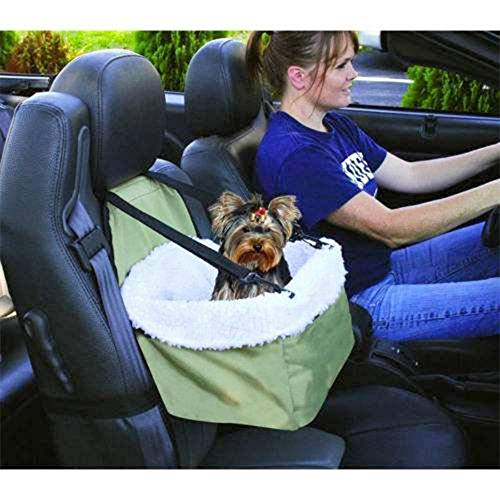 Wishbone Pet Carrier Basket Bag Detachable Fur Lining Security Bucket Strap Pet Booster Car Seat Cover Travel Vehicle Harness Hammock for Small Dogs Cats Animals Up to 5 Kg