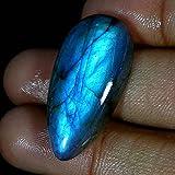 RADHEY KRISHNA GEMS 33.90CTS. 100% natural Blue Fire labradorite pera cabochon pietre preziose di alta qualità