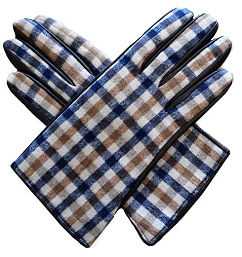 Aquascutum Guanti Donna Marrone Club Check Gloves Dark Brown -S (m)