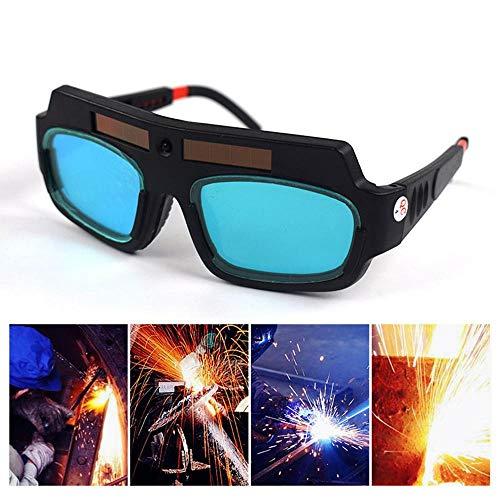 KOBWA Gafas de Soldar de Oscurecimiento Automático, Gafas de Protección para Soldar, Protección Para Los Ojos --Suministro de Energía Solar
