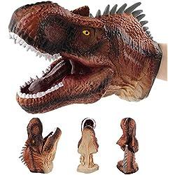 tianranrt dinosaurios Marionetas rollo Jugar REALiS mesa Tyrannosaurus Rex de guantes suave juguete, Multicolor