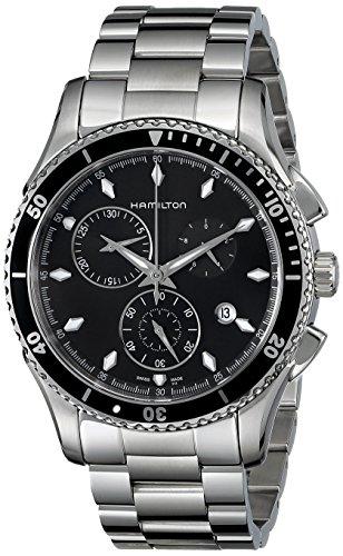 Hamilton Orologio Cronografo Quarzo Uomo con Cinturino in Acciaio Inox H37512131