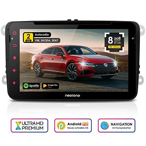 NEOTONE WRX-980A Autoradio für VW | Skoda | Seat | Android 9 | Navigation mit Europakarten | 8 Zoll...