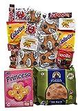 FIESTA Spanische Süssigkeiten Präsentkorb, Spanische Geschenke für Kinder Party, für Studenten, Lustige Geschenke, Spanische Spezialitäten, Spanischer Geschenkkorb für Veganer und Vegetarier