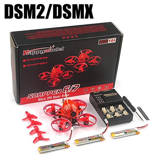 Snapper6 1S Brushless Whoop Racer Drone con fotocamere, Mini Drone, Elicotteri RC BNF 5.8G F3 65mm...