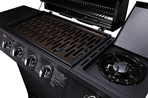 CosmoGrill 4+1 Gas Burner Garden Grill BBQ Barbecue grilling area and side burner