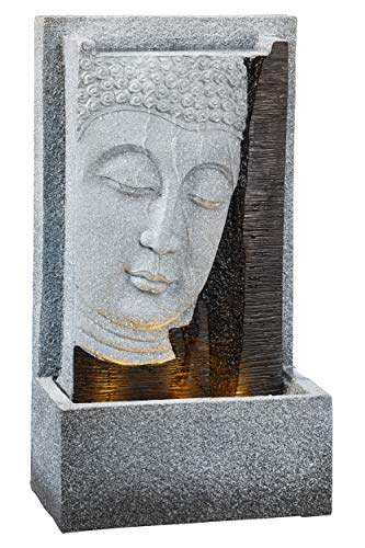 TFH - Fuente LED con Forma de Buda para Exterior, Rectangular, Efecto Piedra 3