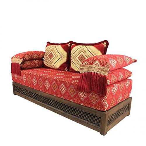 Casa Moro - Divano Marocchino Orientale - Pouf - Sark Kösesi - Seduta Nadia Completa di Telaio - Marrakech