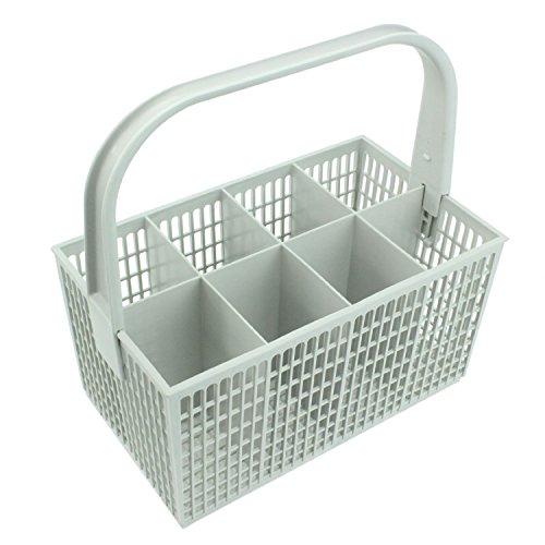 Spares2go posate basket gabbia per Grundig lavastoviglie (bianco, 237mm x 137mm x 122mm)