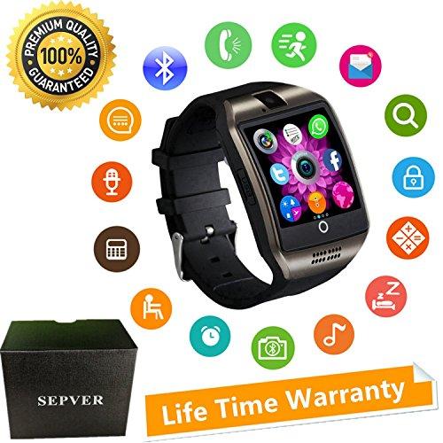 Reloj Inteligente Mujer Hombre Smartwatch Pulsera de Actividad Inteligente con Pantalla Táctil Ranura para Tarjeta SIM Cámara para iPhone Samsung Xiaomi Huawei Android Hombre Mujer Niños (Negro)