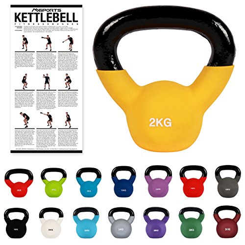 Kettlebell Professionale 2 - 30 kg | Ghisa Revestimento in Neoprene | incl. Workout PDF | diversi...