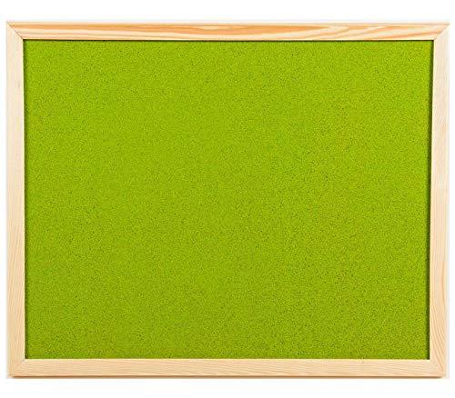 OfficeCentre - Bacheca da parete in sughero colorato, 40 x 30 cm, con fissaggi + 20 perni Light...