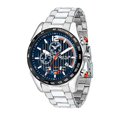 Sector No Limits Orologio Cronografo Quarzo Uomo con Cinturino in Acciaio Inox R3273794010