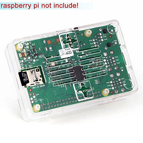 51onIOD%2BgyL - Aukru Nuevo 3-EN-1 Kit de Raspberry Pi 2 Modelo B/B + Transparente Caja + 5v 2000mA alimentación + 3 Conjunto del disipador de Calor