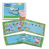 Peppa Pig 68636, Pack 6 Invitaciones, Invitaciones para Fiestas y cumpleaños