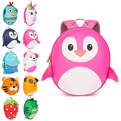 Boppi Tiny Trekker Zaino da viaggio per bambini - Zaino 4 litri - Pinguino Rosa